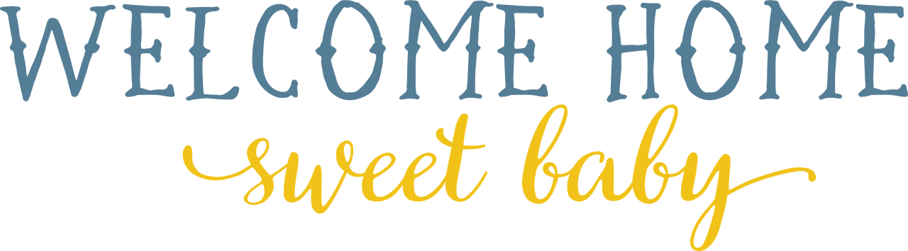 Welcome Home Sweet Baby SVG Cut File
