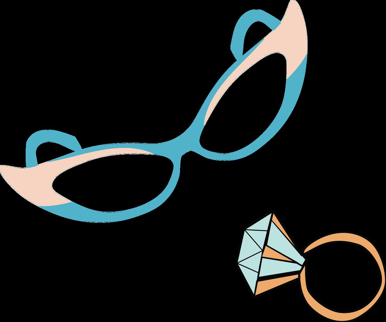 Sunglasses and Diamond Ring SVG Cut File