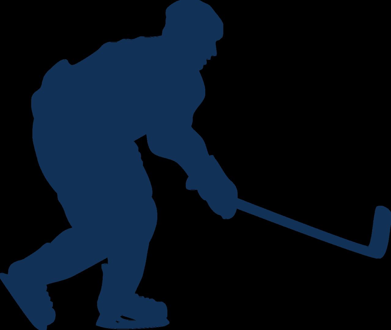 Hockey Silhouette SVG Cut File