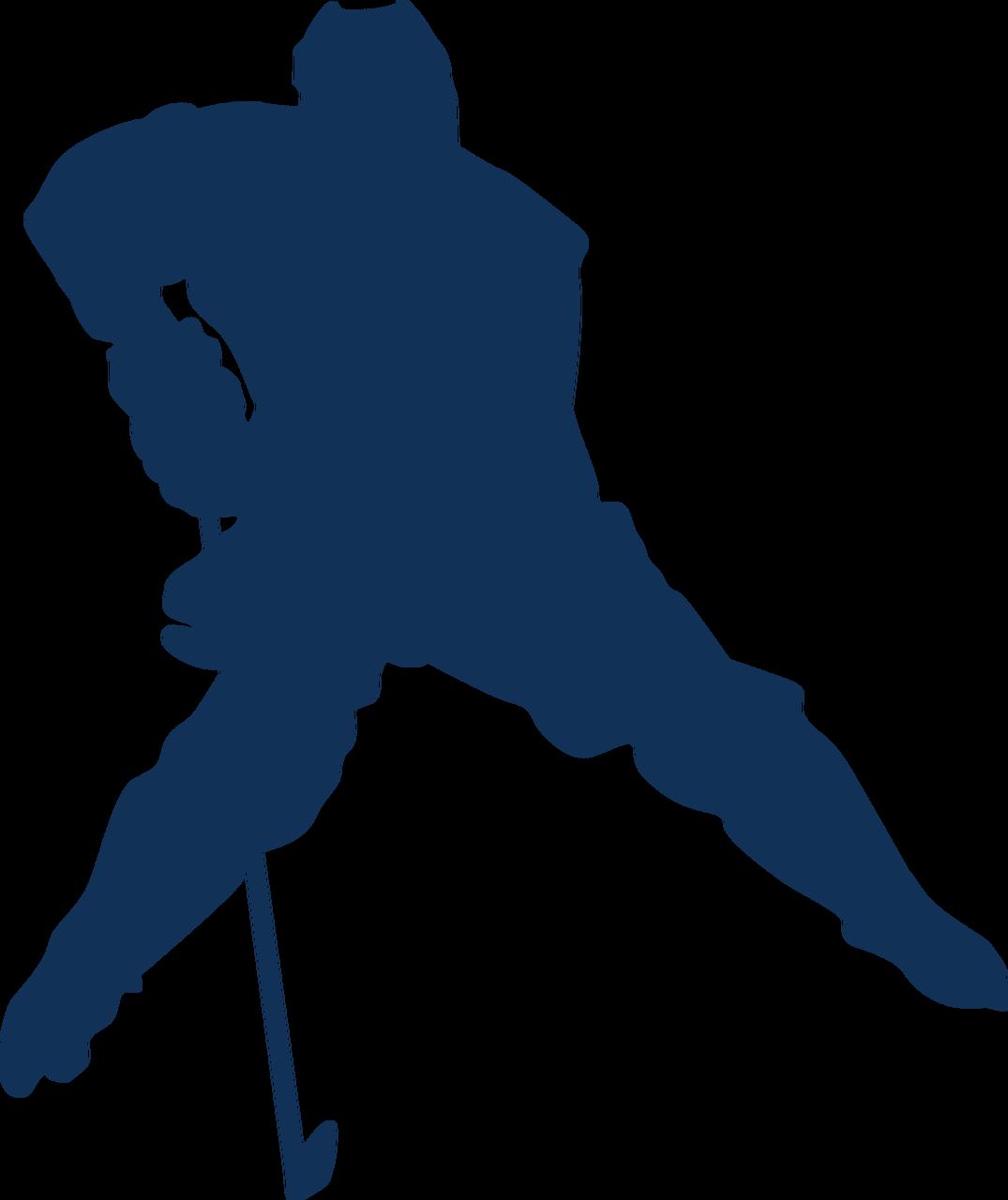 Hockey Silhouette #2 SVG Cut File