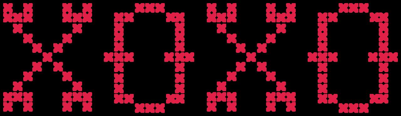 XOXO Cross Stitch SVG Cut File