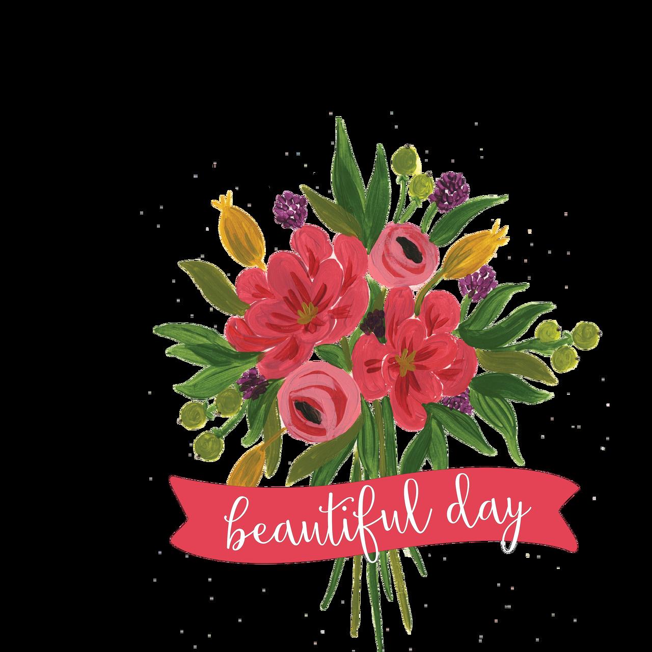 Beautiful Day Bouquet Print & Cut File
