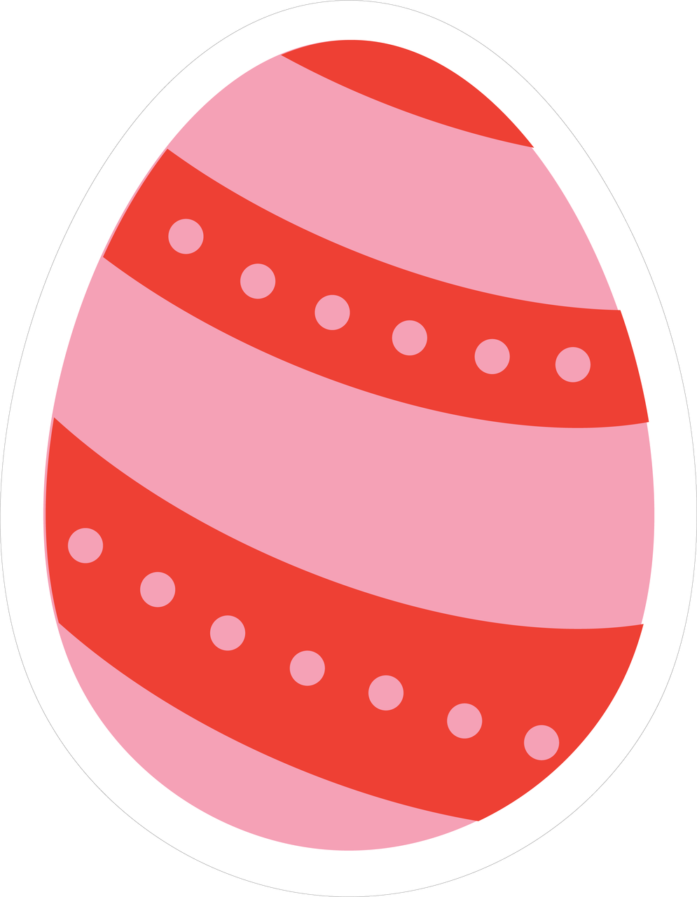 Easter Egg SVG Cut File