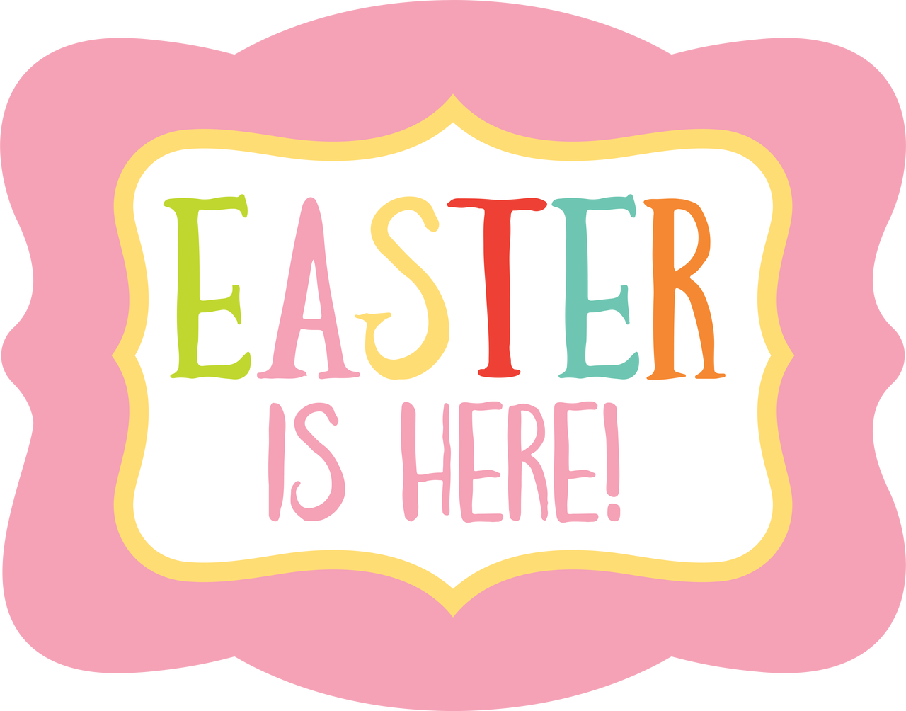 Easter Is Here SVG Cut File