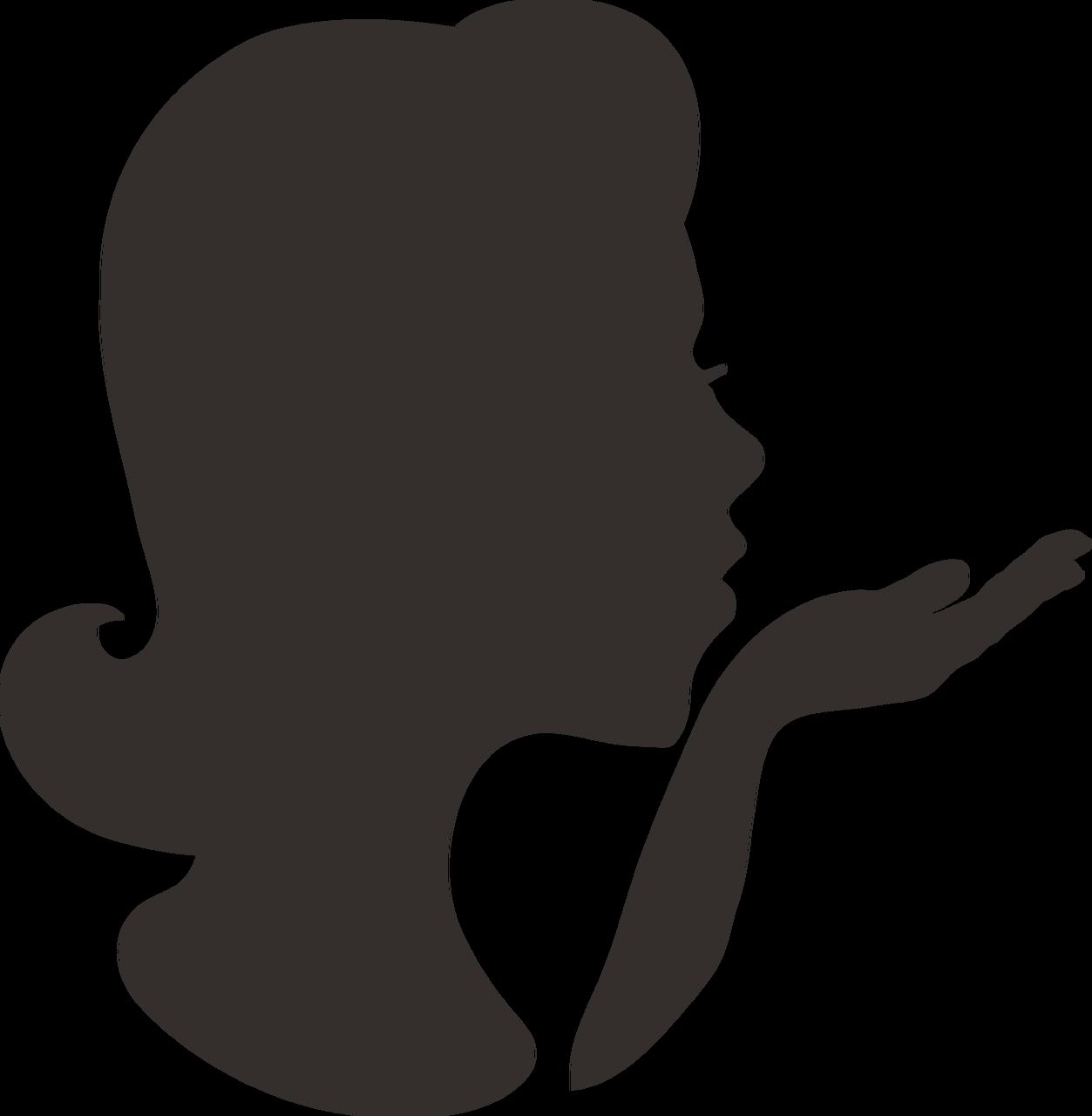 Woman Silhouette SVG Cut File
