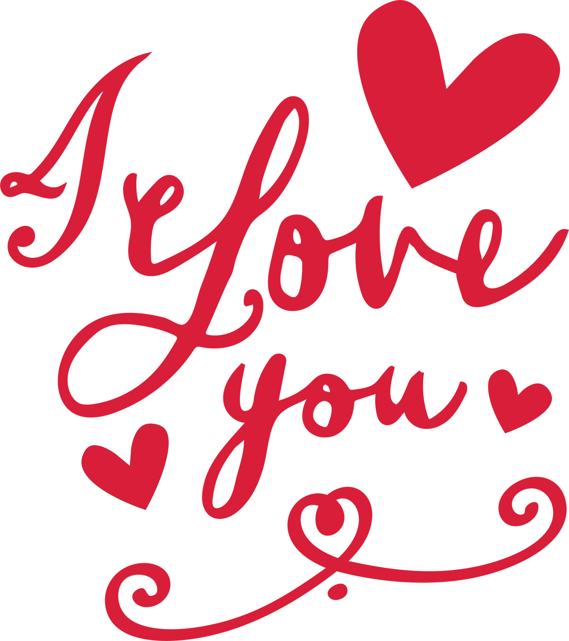 I Love You #4 SVG Cut File