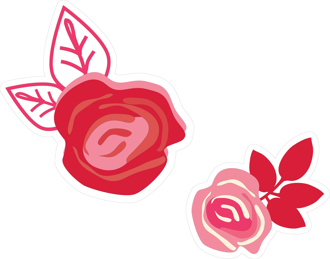 Valentine Flower Print & Cut File