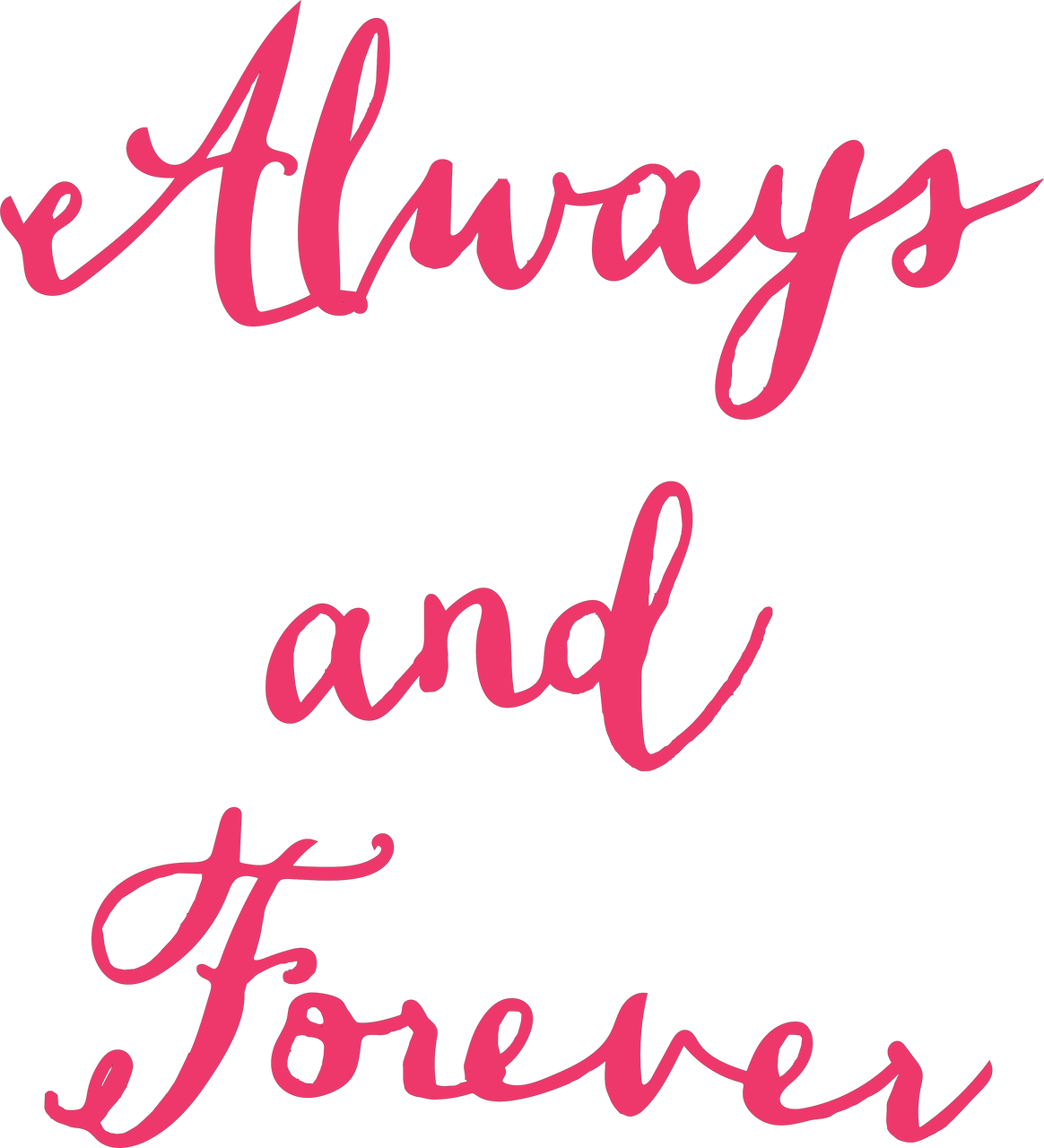 Always and Forever SVG Cut File