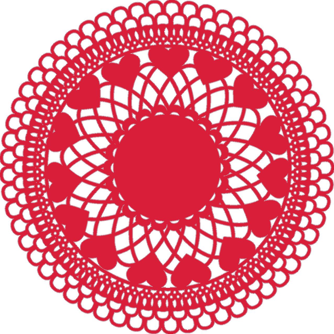 Valentine Lace Doily SVG Cut File