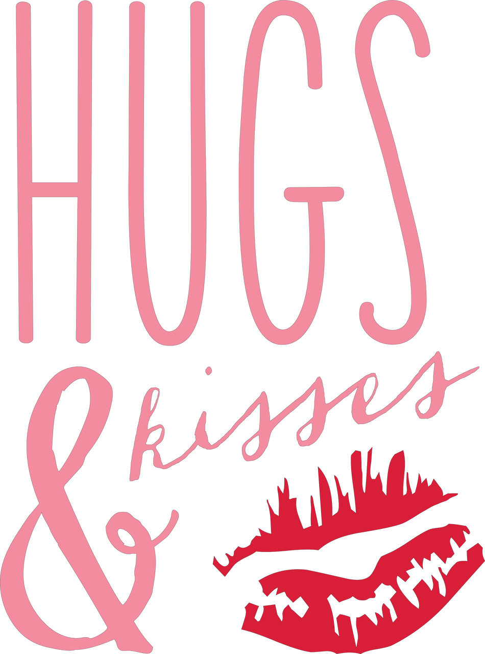 Hugs & Kisses #2 SVG Cut File