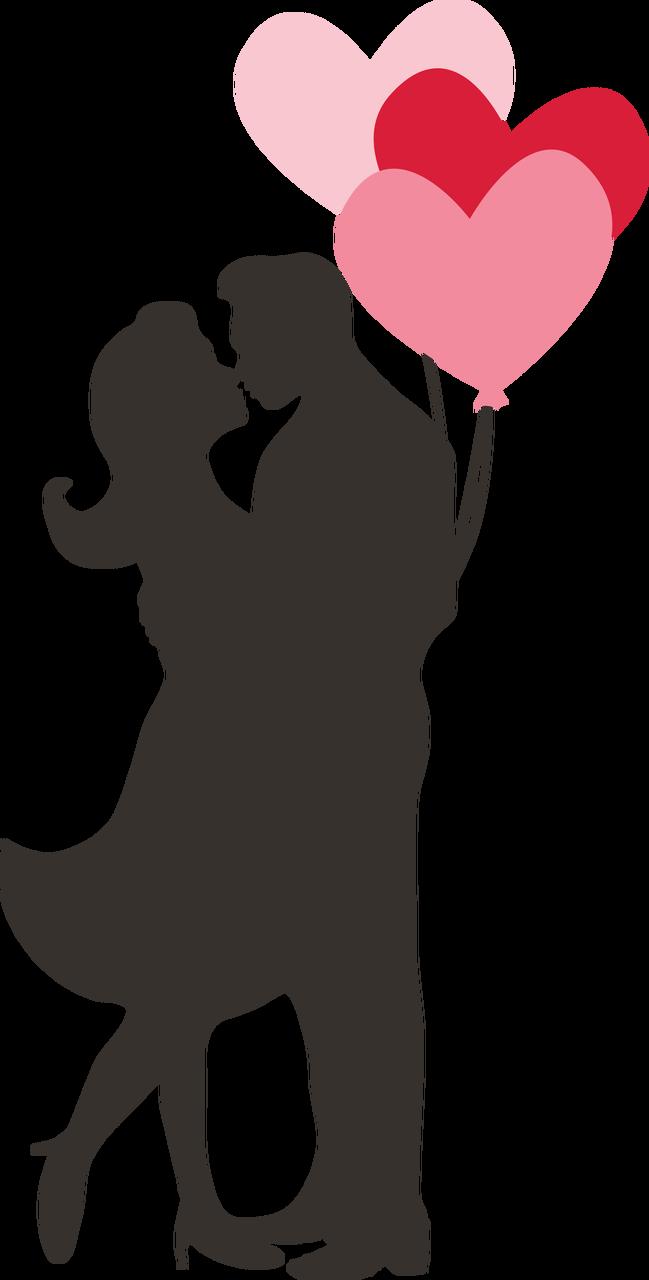 Couple Silhouette SVG Cut File