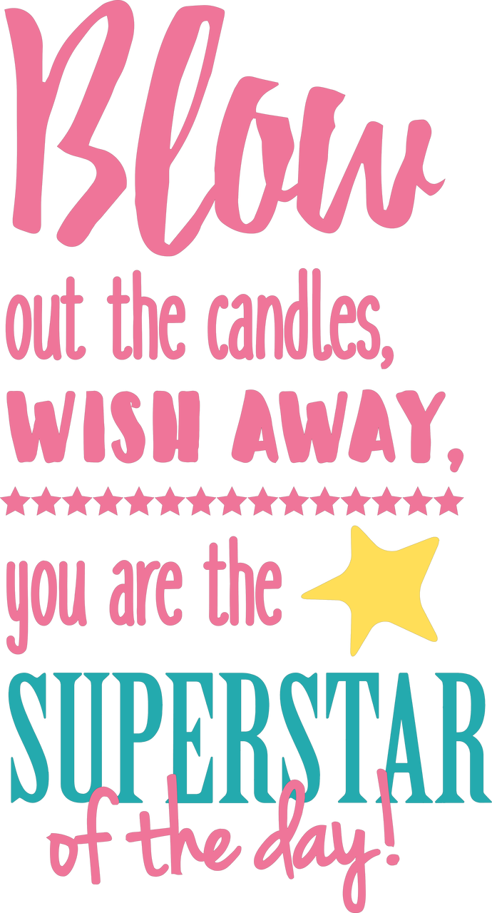Blow Out The Candles SVG Cut File