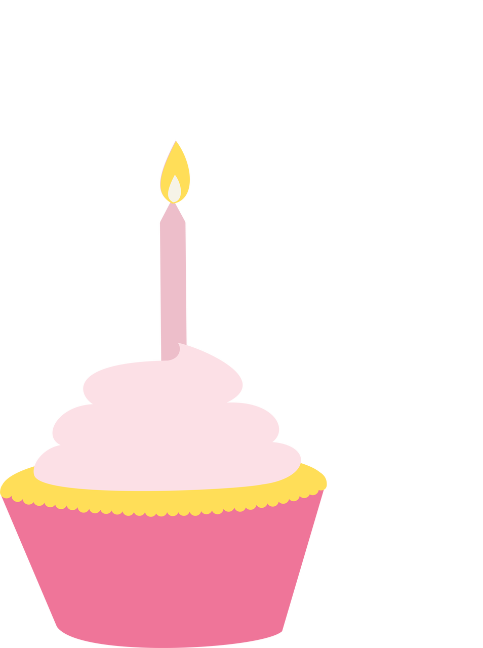 Birthday Girl Cupcake SVG Cut File