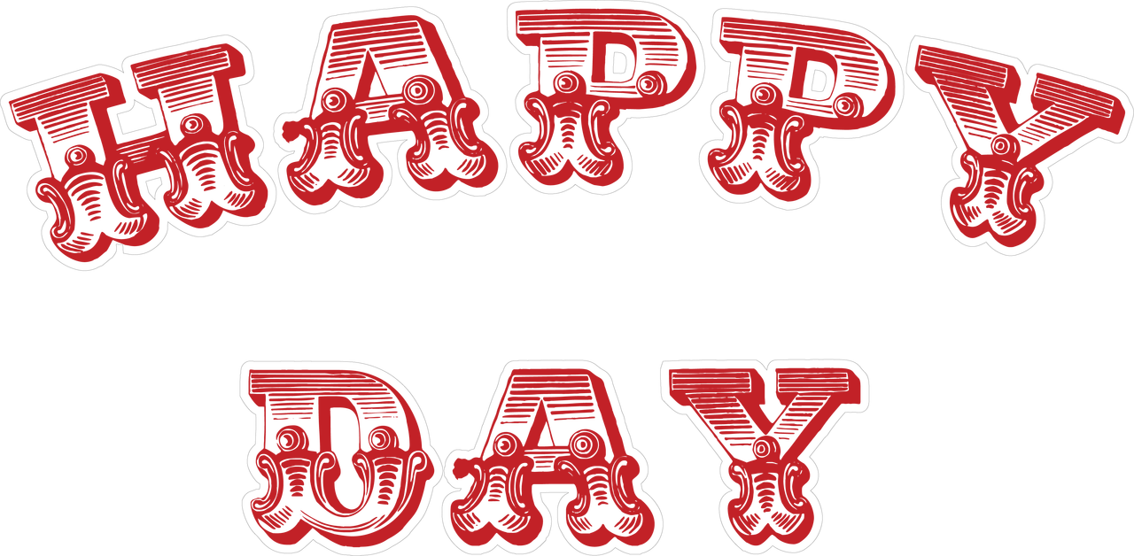 Happy Day Stamp Print & Cut File