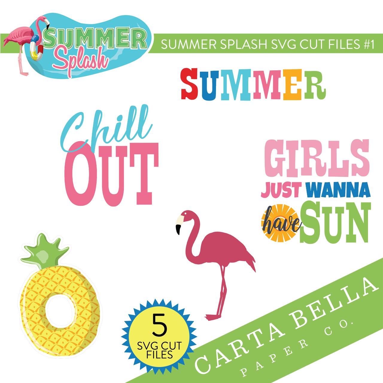 Summer Splash SVG Cut Files #1
