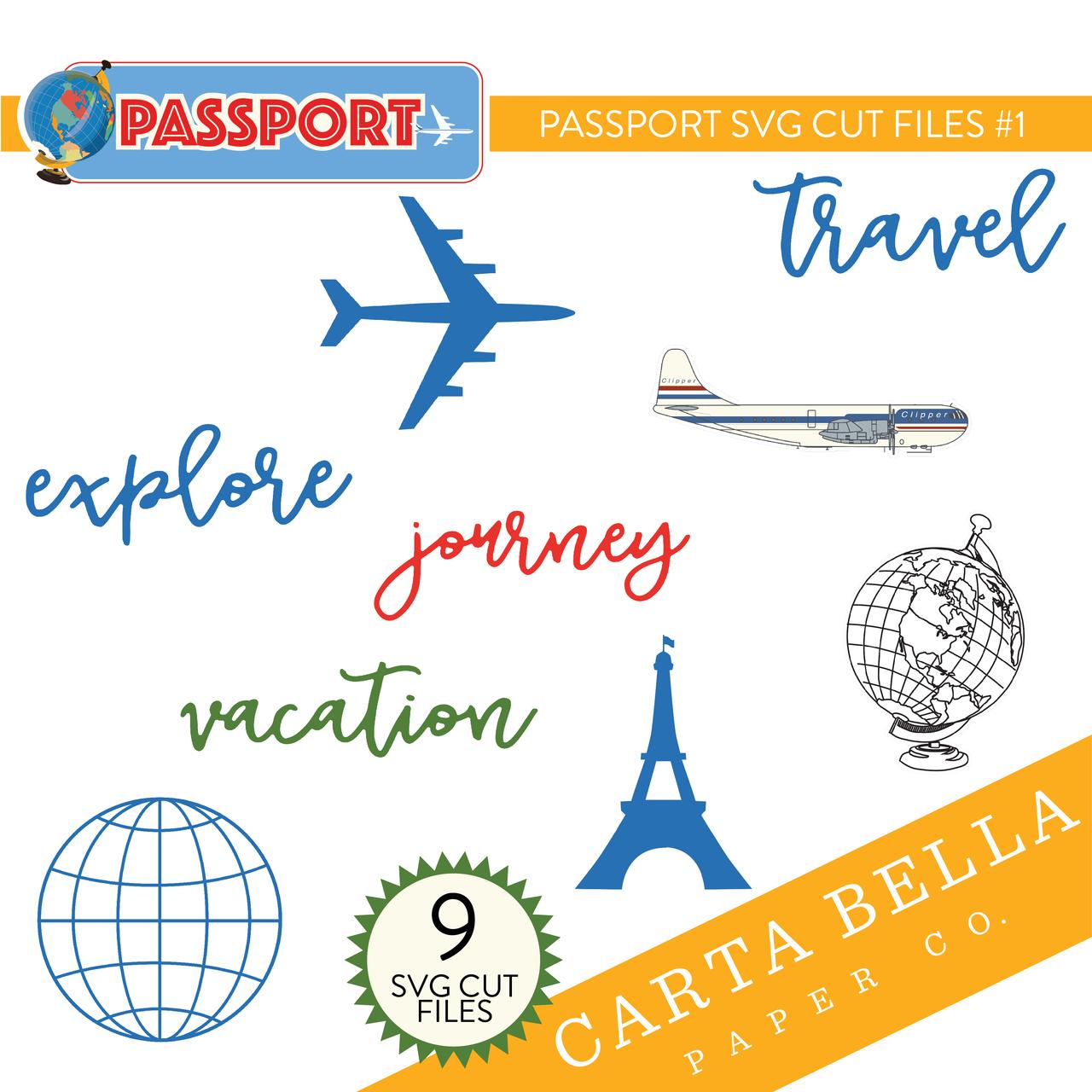 Passport SVG Cut Files #1
