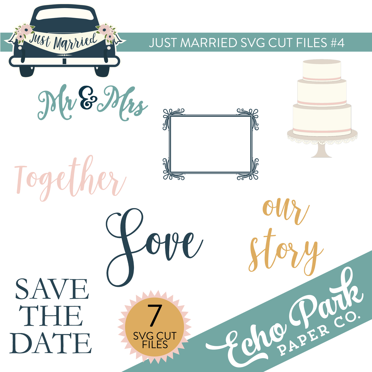 Just Married SVG Cut Files #4