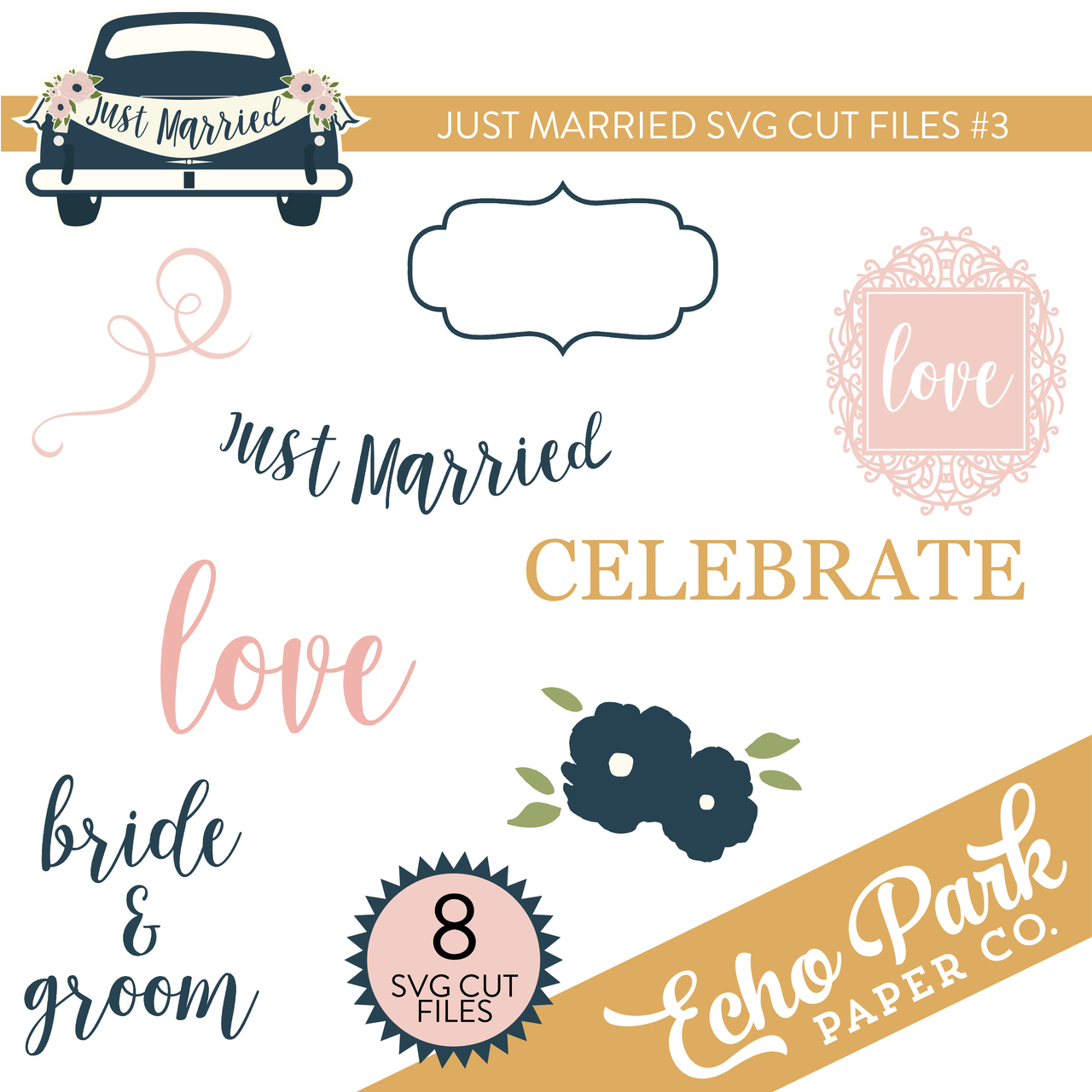 Just Married SVG Cut Files #3