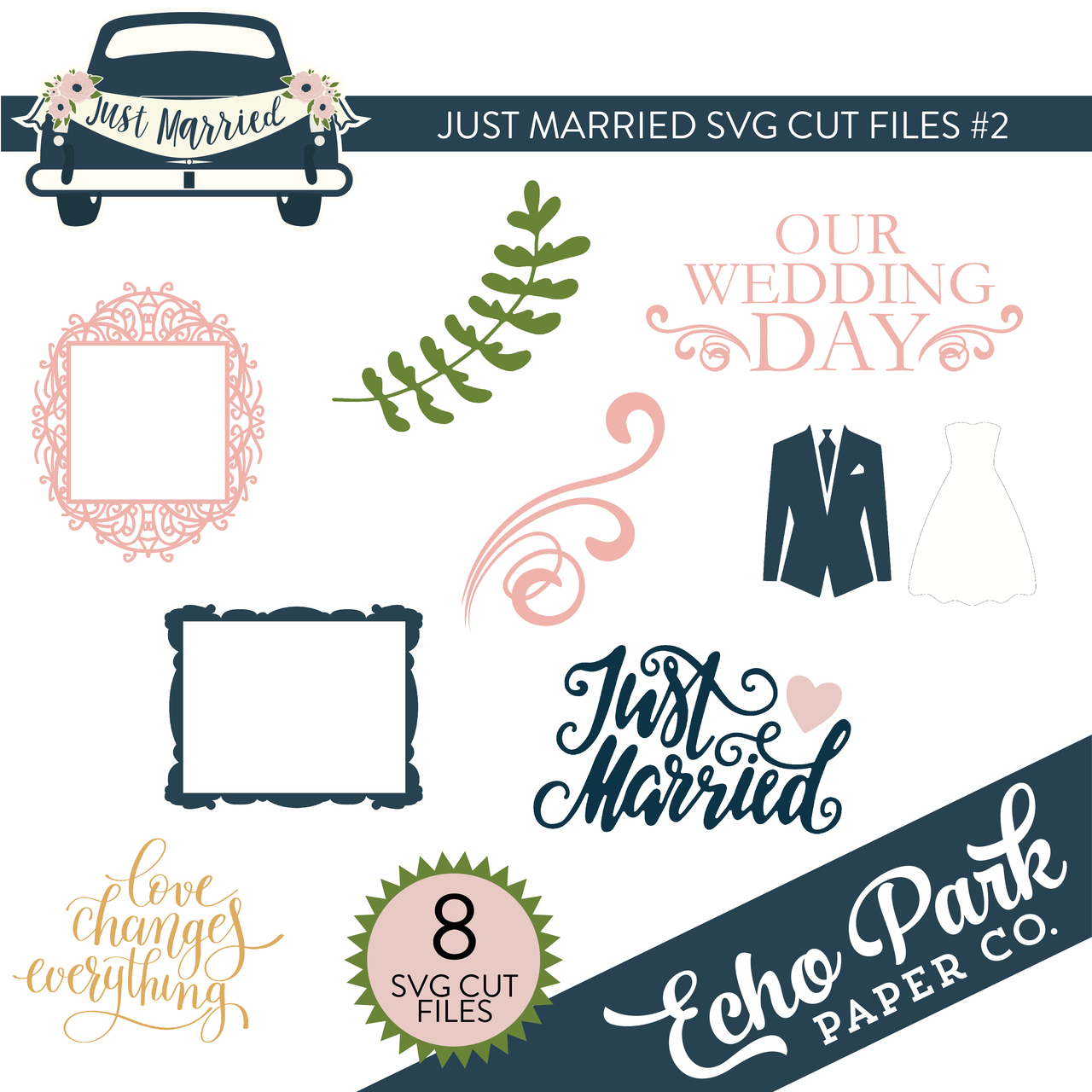Just Married SVG Cut Files #2