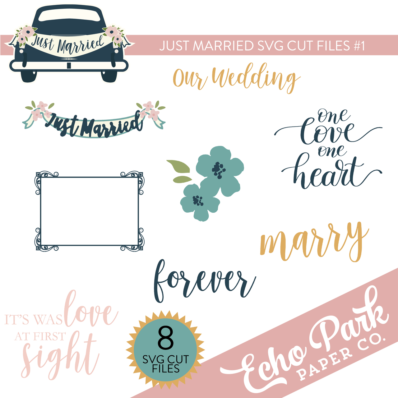Just Married SVG Cut Files #1