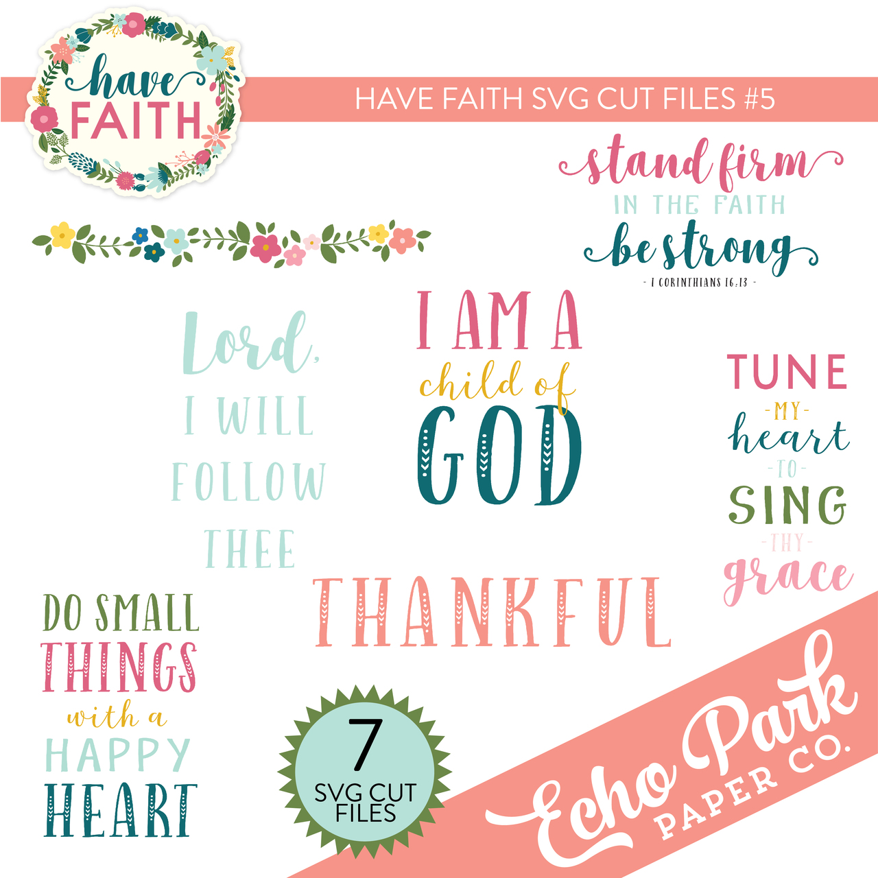 Have Faith Svg Cut Files 5 Snap Click Supply Co