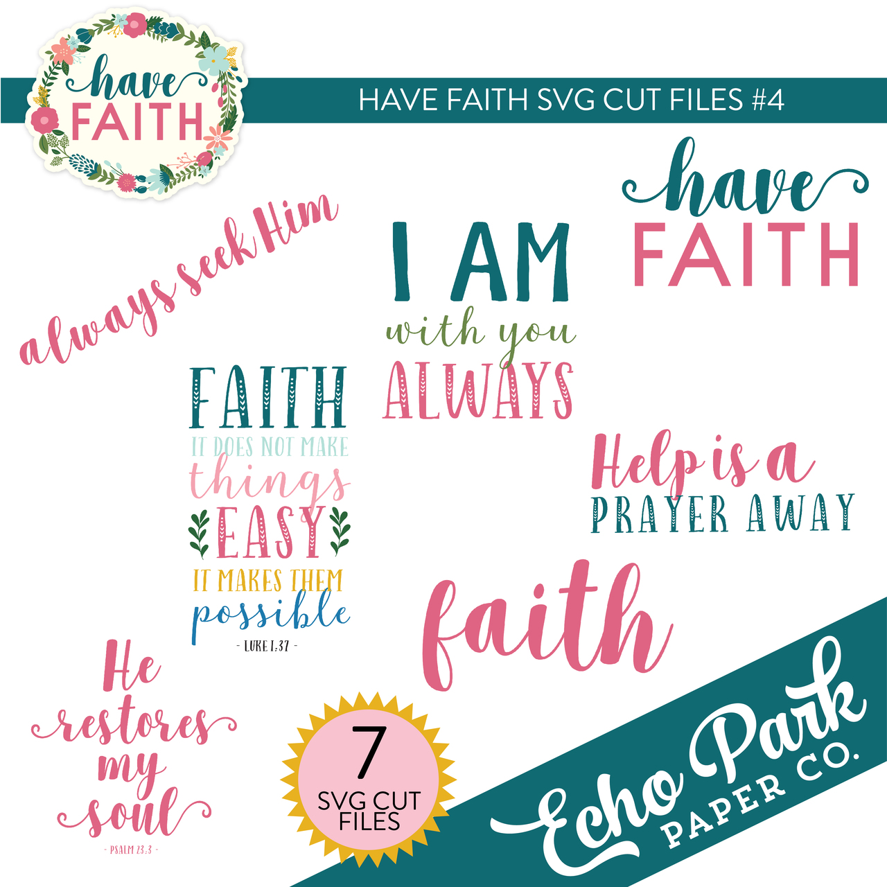 Have Faith SVG Cut Files #4