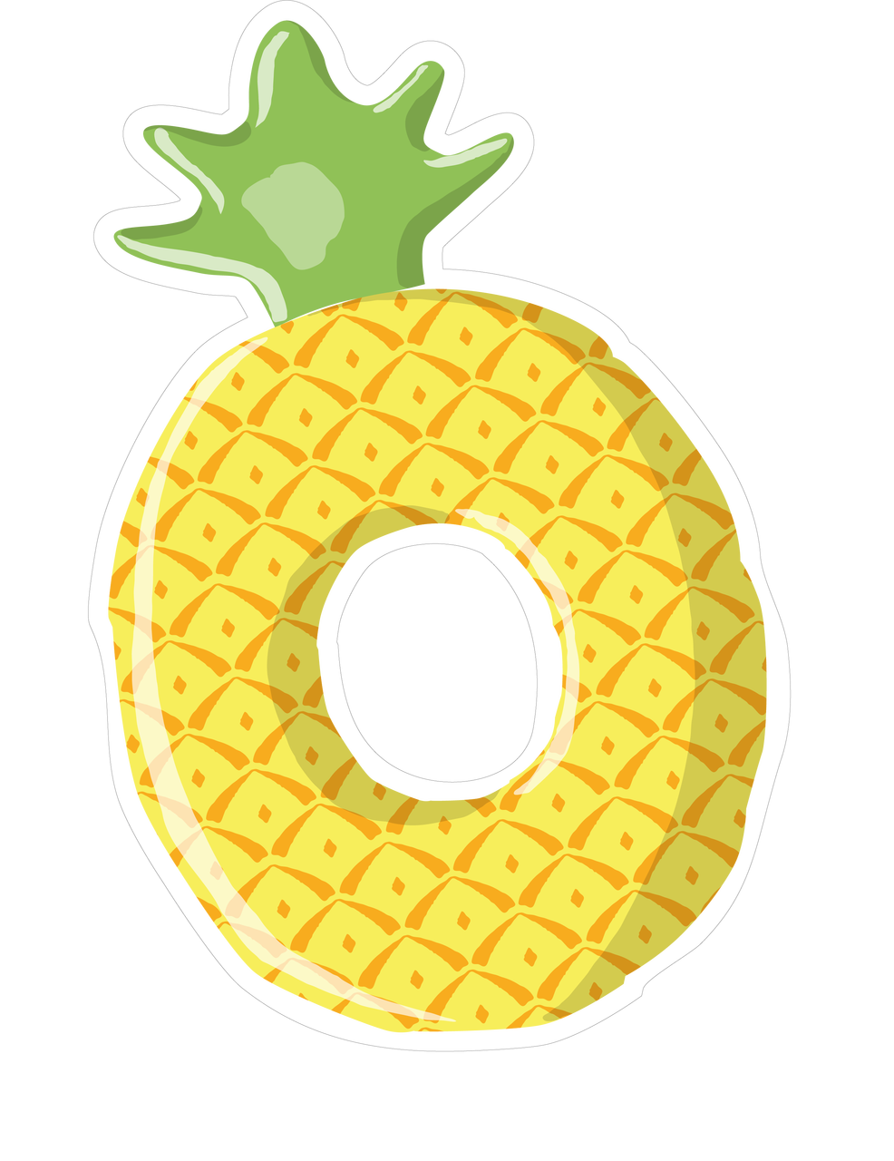 Pineapple Tube SVG Cut File