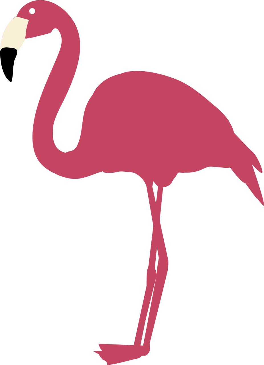 Flamingo #3 SVG Cut File