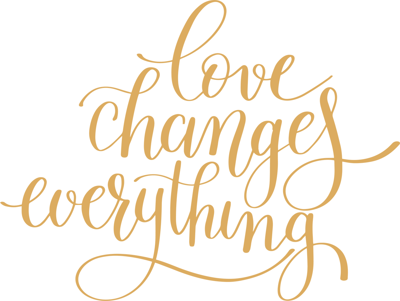 Love Changes Everything SVG Cut File
