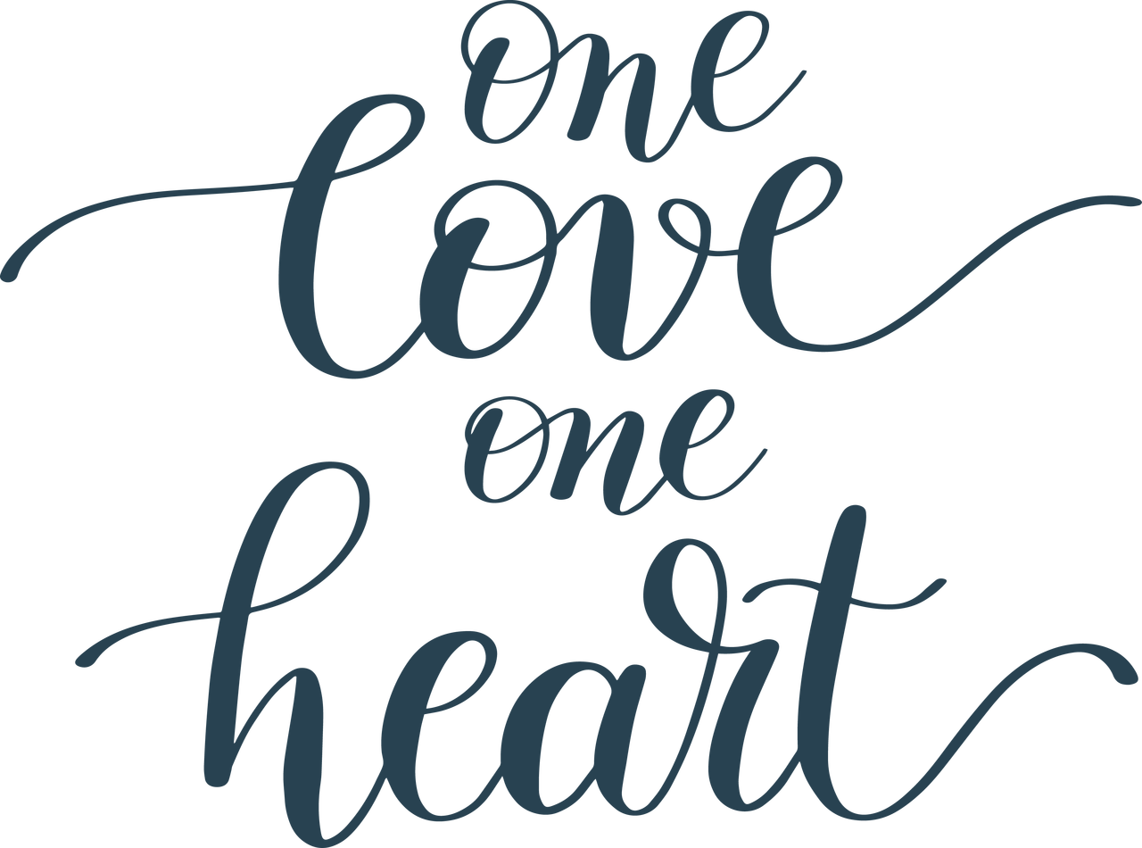 One Love One Heart SVG Cut File