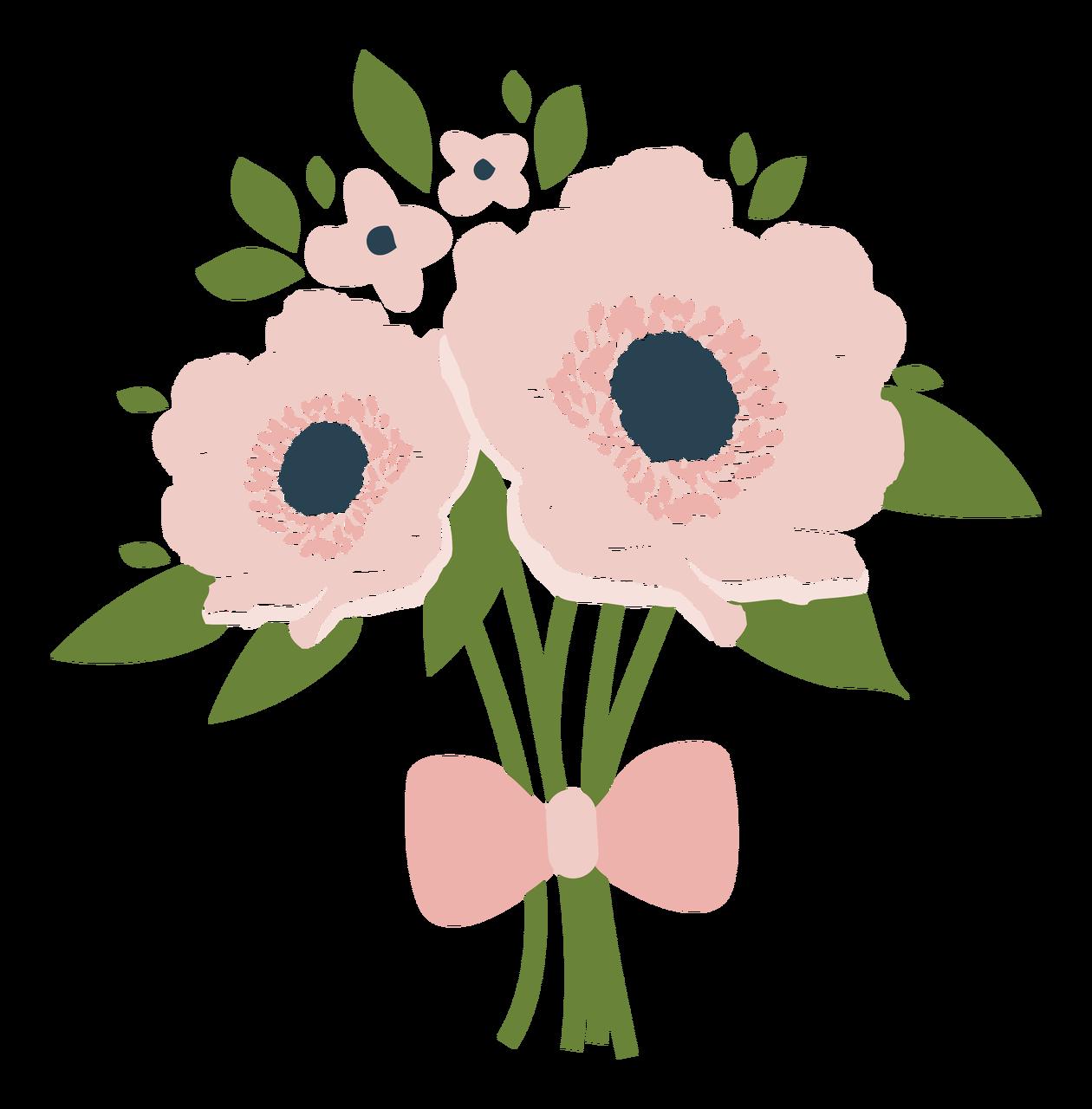 Wedding Bouquet Print & Cut File