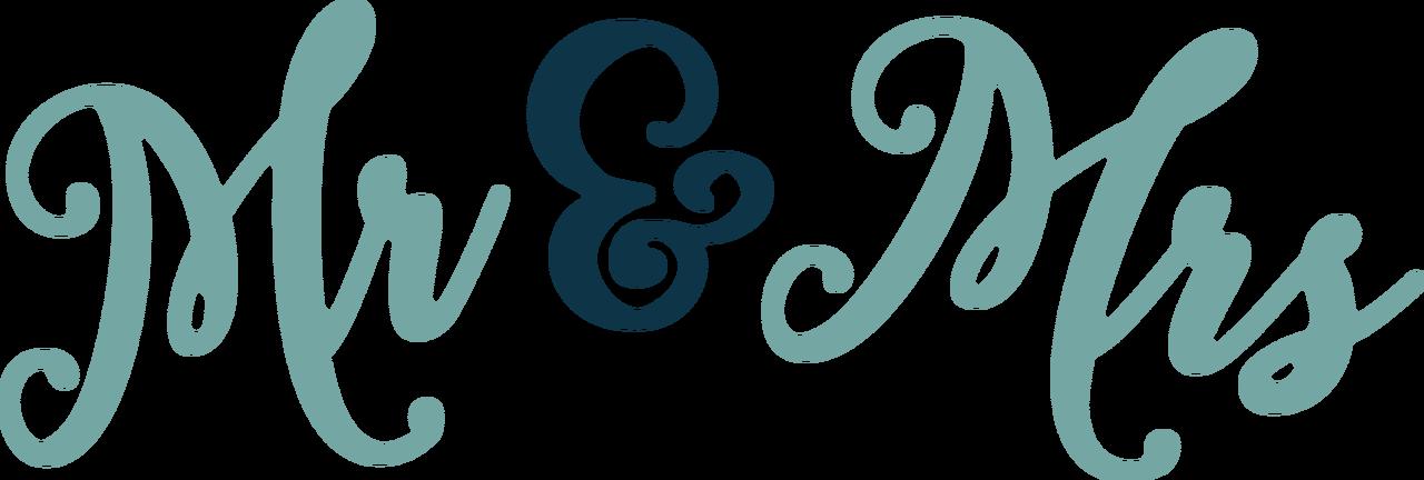 Mr & Mrs SVG Cut File