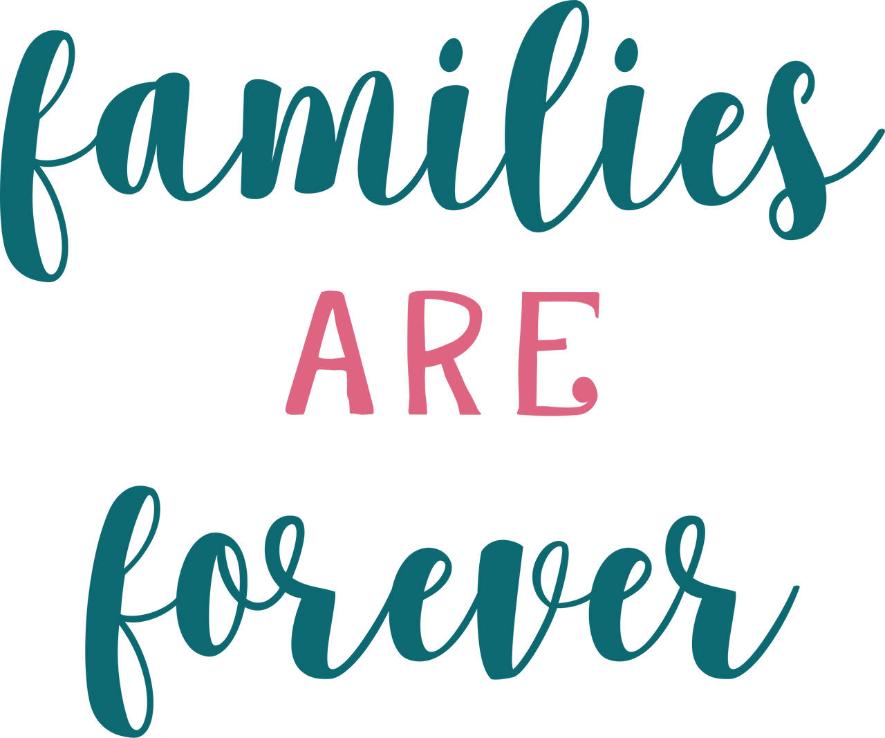 Families Are Forever SVG Cut File