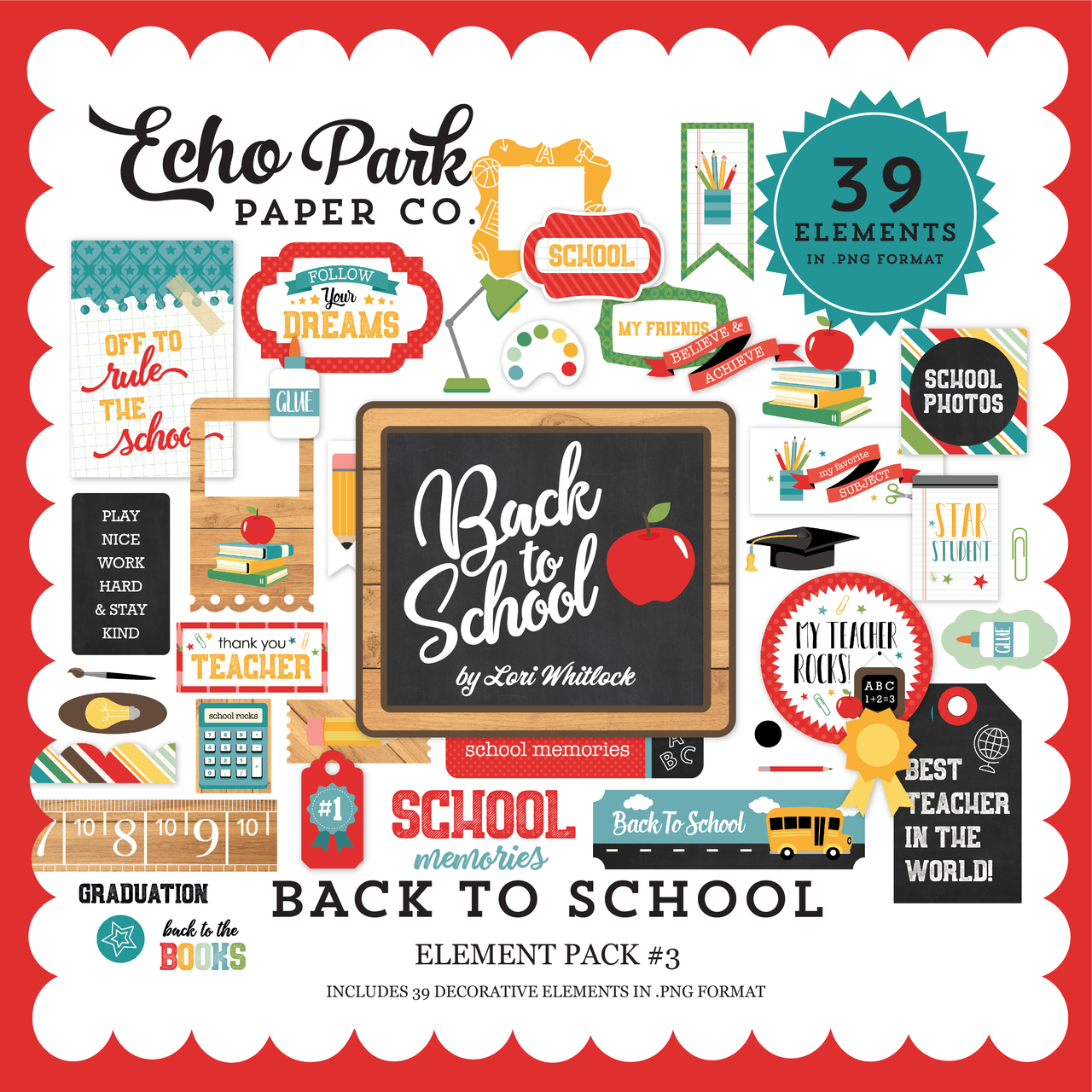 Back to School Element Pack #3