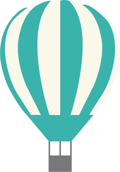 Hot Air Ballon SVG Cut File