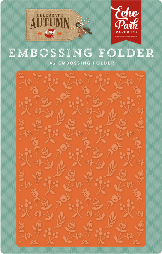 Celebrate Autumn Embossing Folder - Autumn Florals