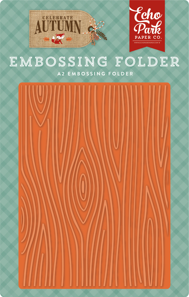 Celebrate Autumn Embossing Folder - Wood Grain