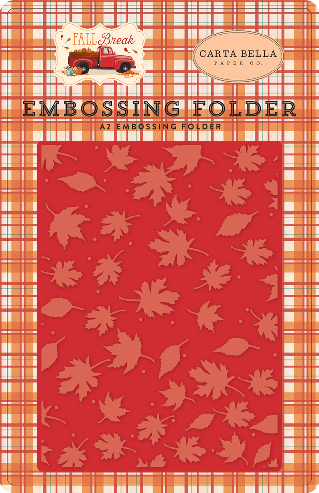 Fall Break Embossing Folder - Whisking Leaves