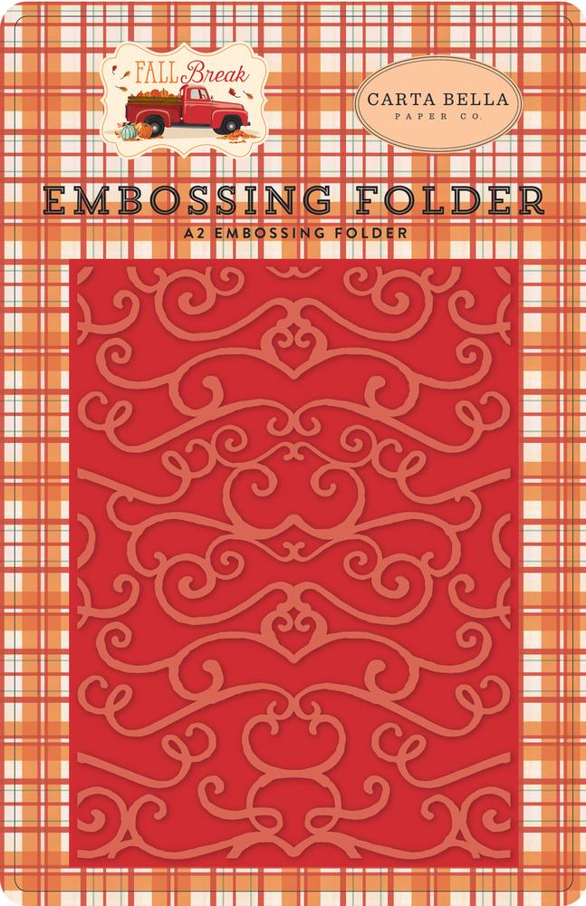 Fall Break Embossing Folder - Fall Flourish