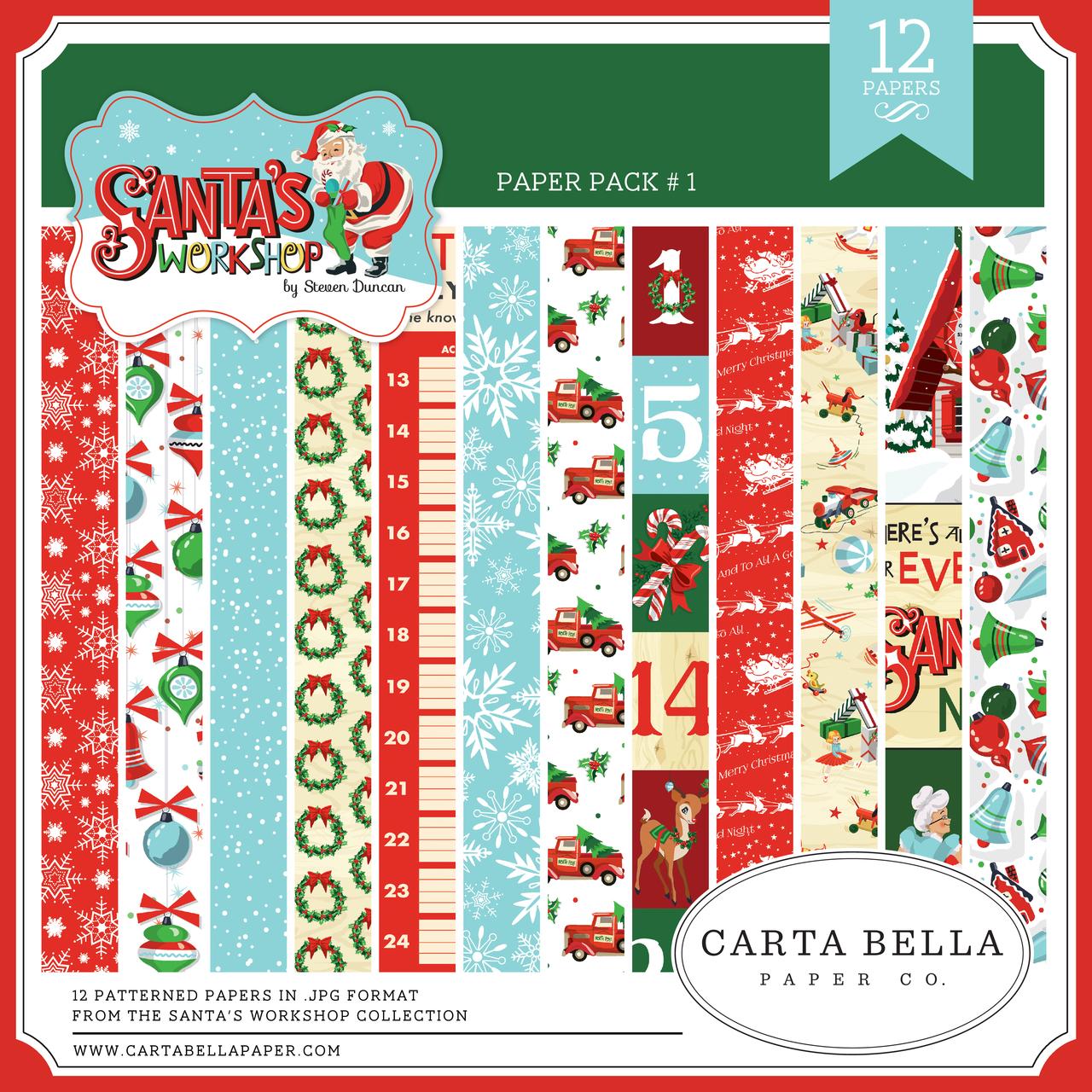Santa's Workshop Paper Pack #1
