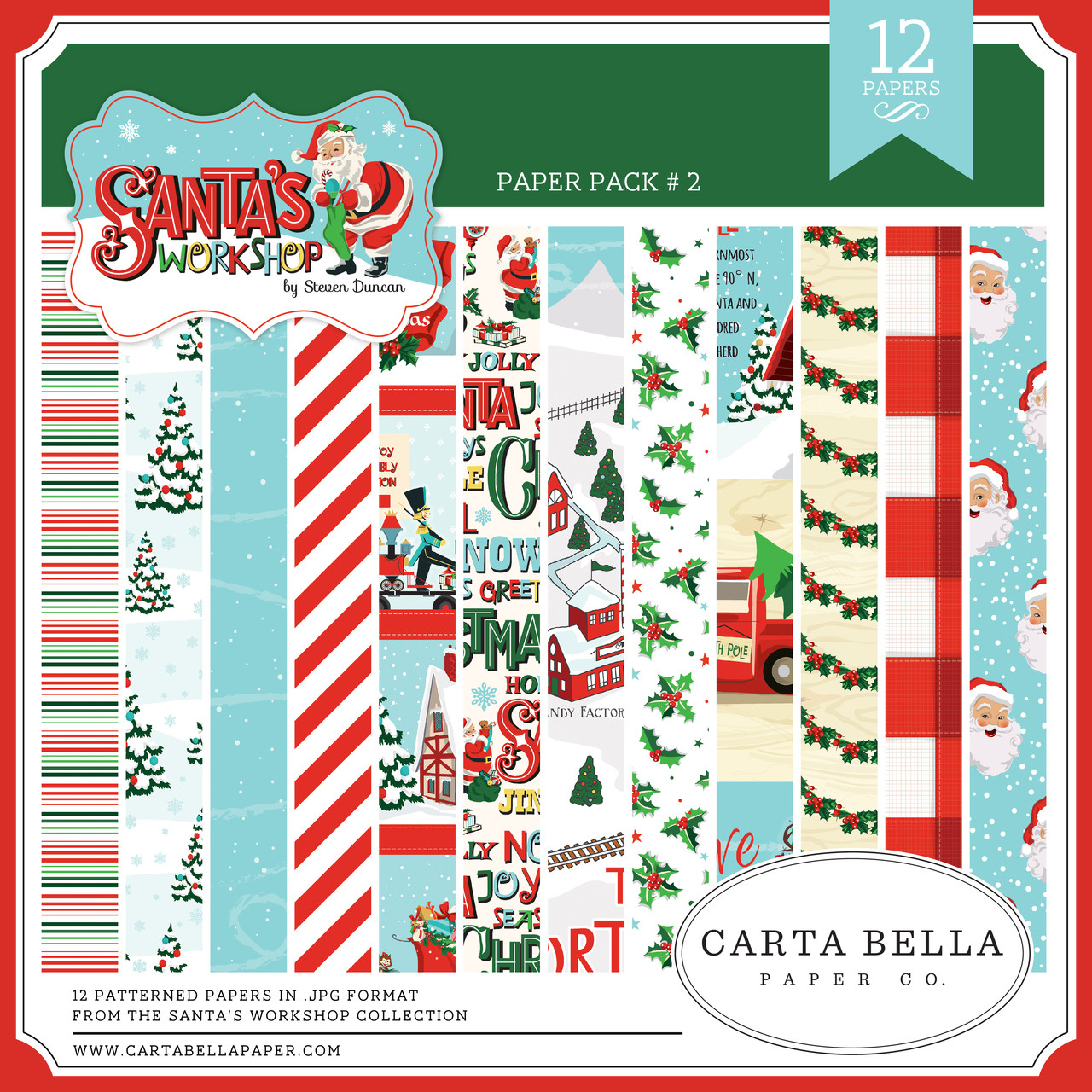 Santa's Workshop Paper Pack #2