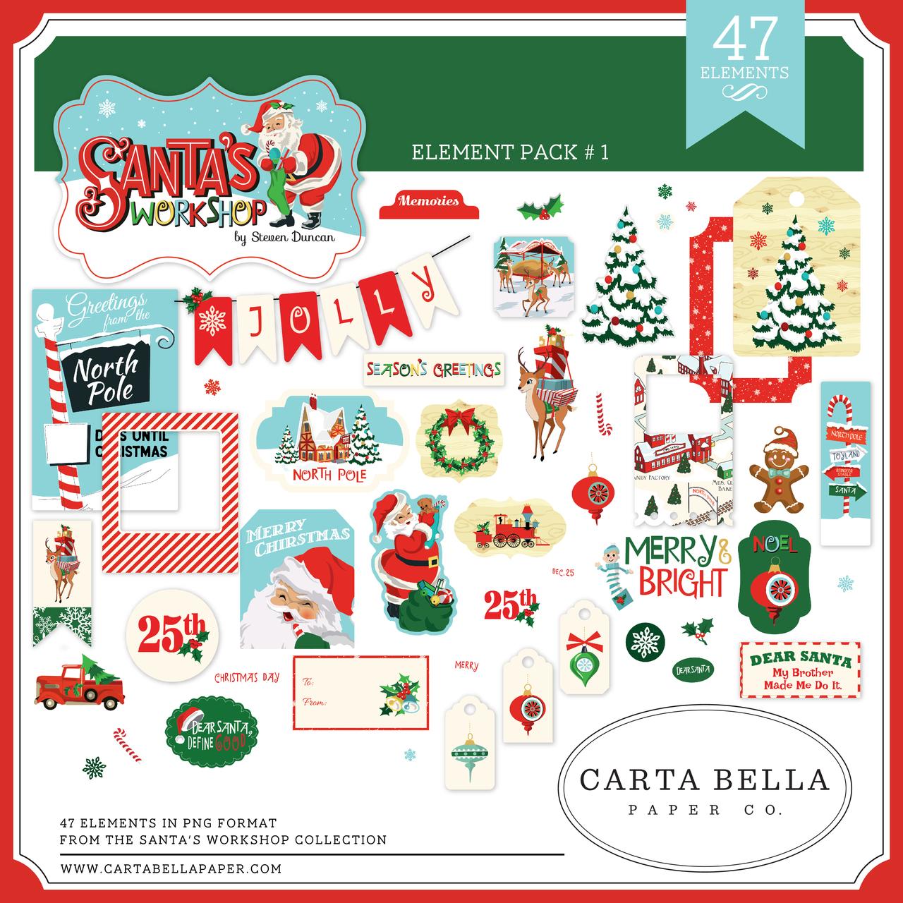 Santa's Workshop Element Pack #1