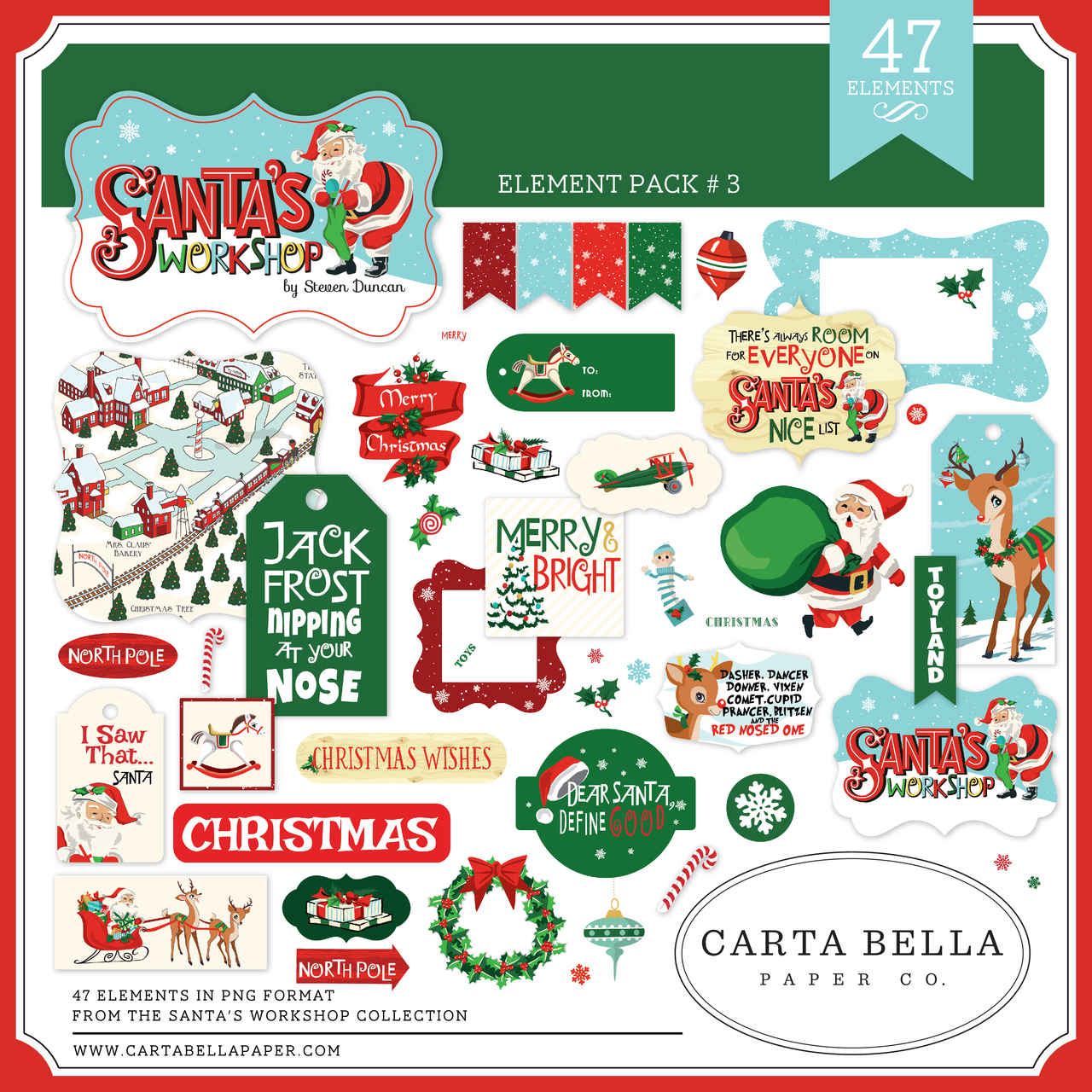 Santa's Workshop Element Pack #3