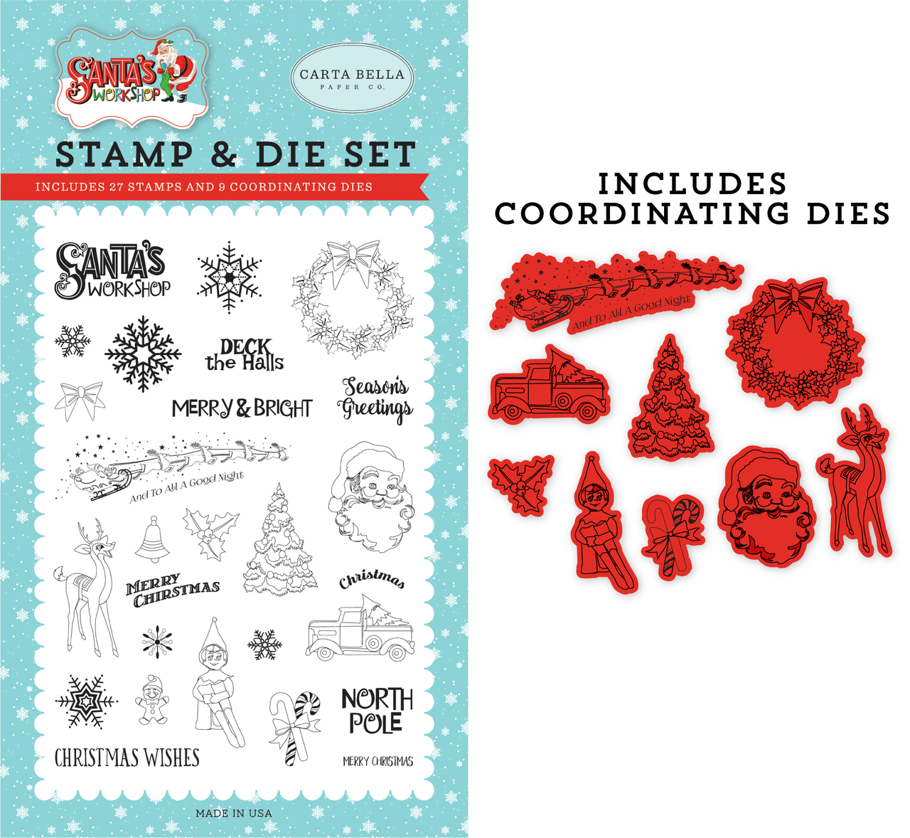 To All A Good Night Die/Stamp Set