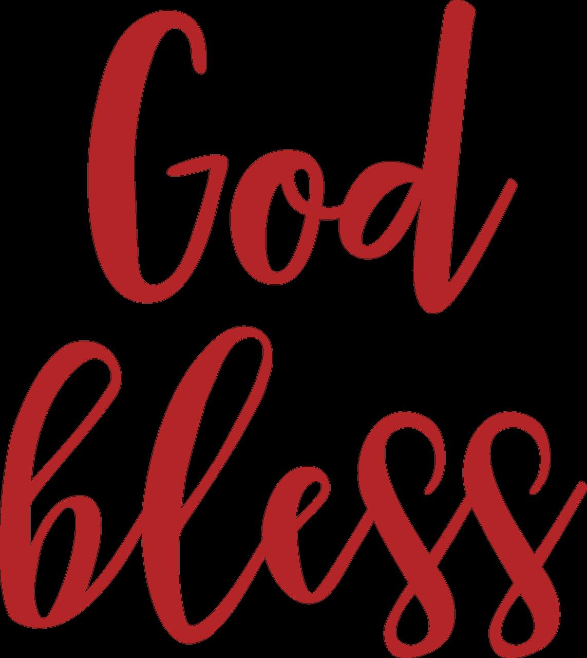 God Bless SVG Cut File