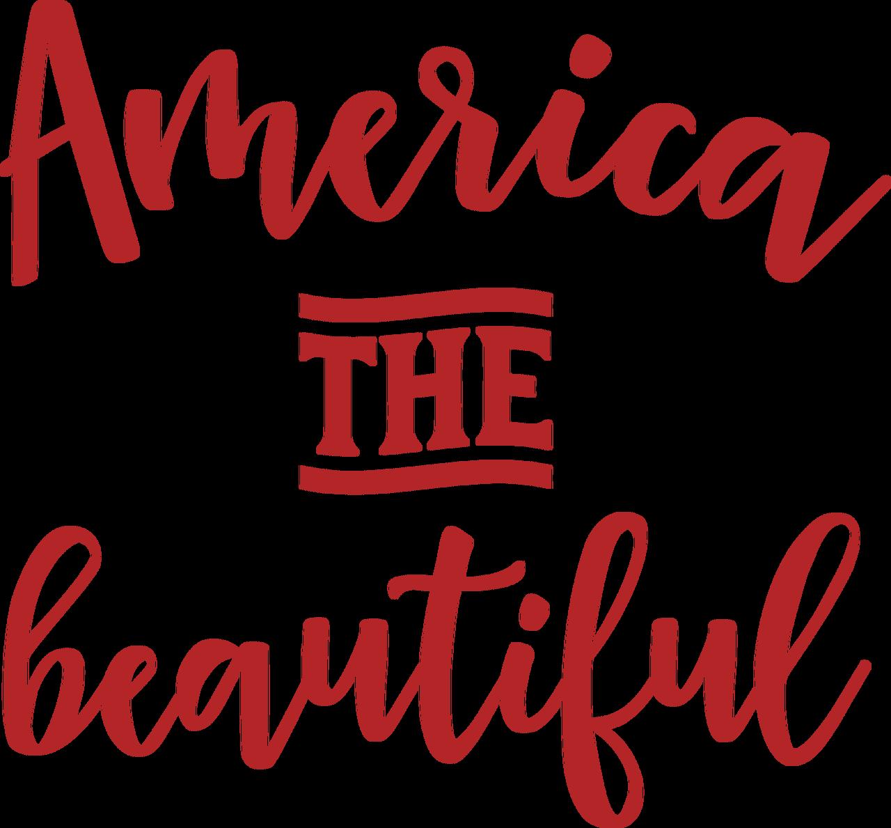 America The Beautiful SVG Cut File