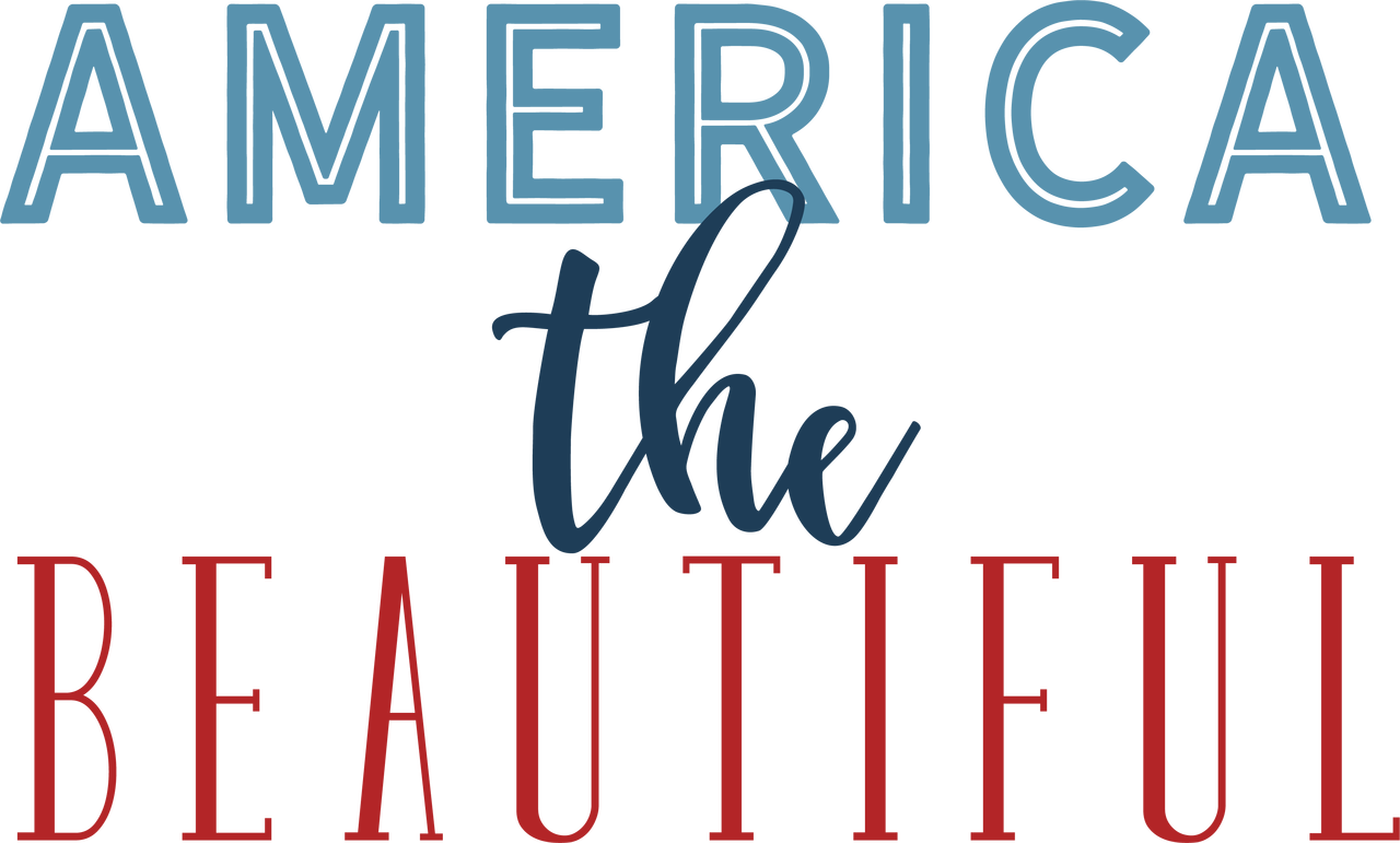 America The Beautiful #2 SVG Cut File