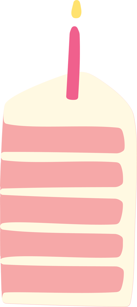 Birthday Cake Slice SVG Cut File