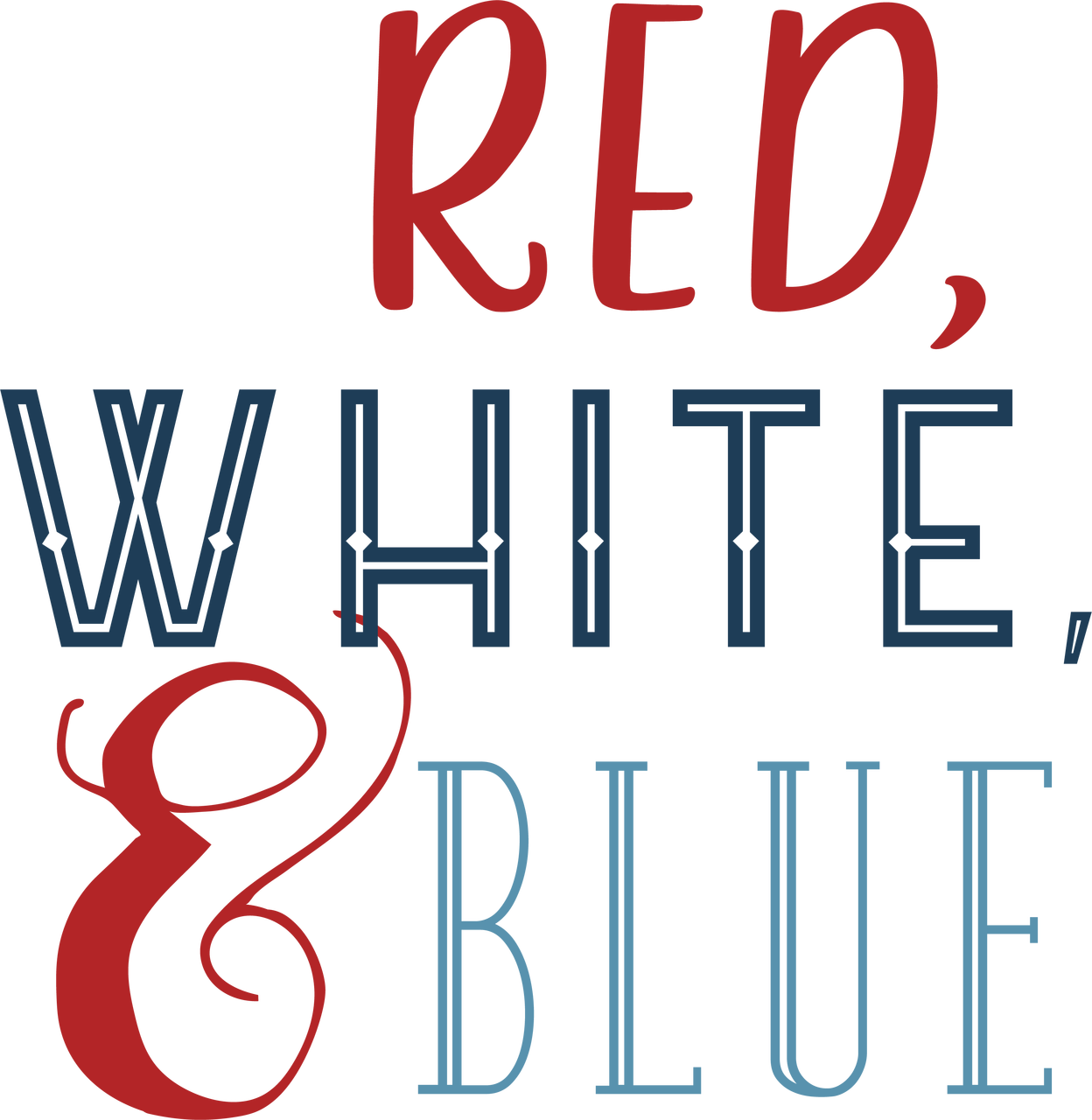 Red, White, & Blue SVG Cut File