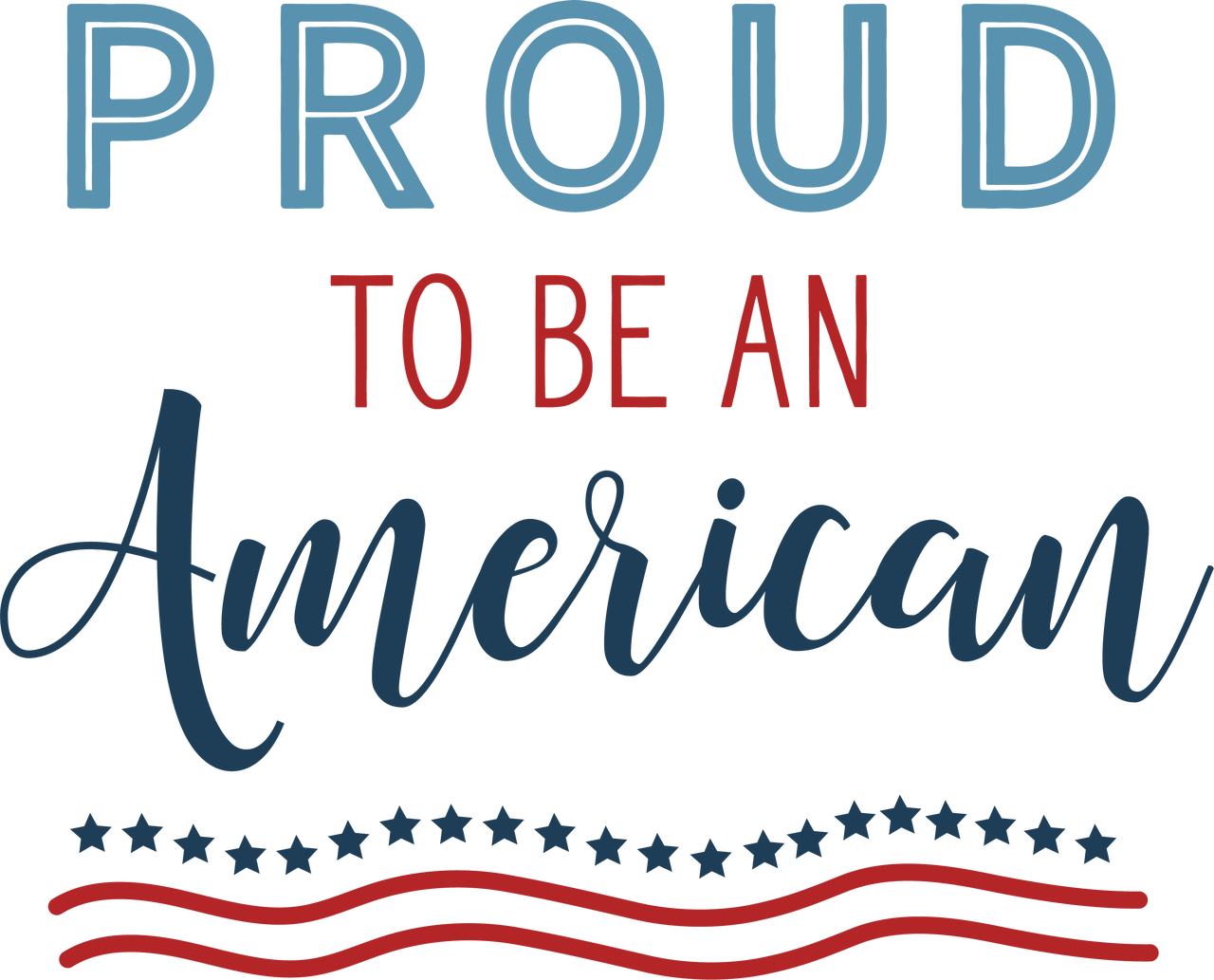 Proud To Be An American #2 SVG Cut File